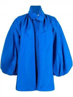 Рубашка с пышными рукавами Dice Kayek. Цвет: синий