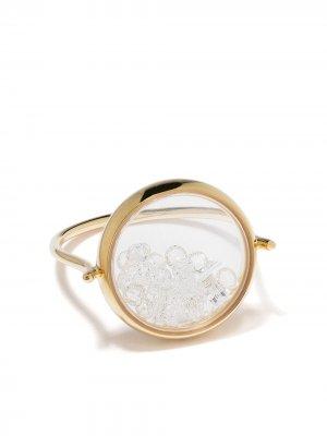 Кольцо Chivor из желтого золота с бриллиантами Aurelie Bidermann. Цвет: золотистый