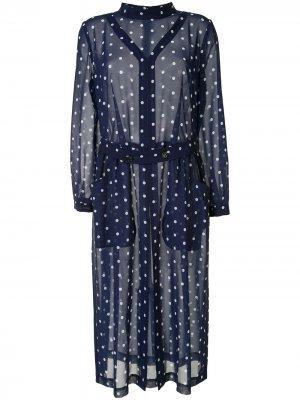 Платье-рубашка в горох Comme Des Garçons. Цвет: черный
