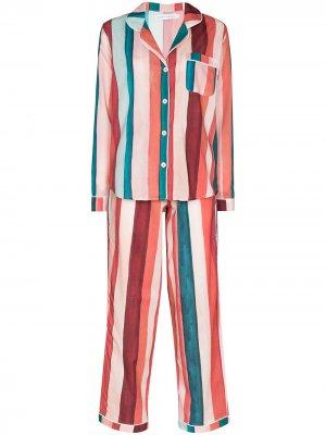 Пижама Medina в полоску Desmond & Dempsey. Цвет: розовый