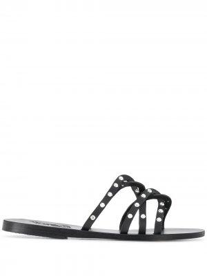 Сандалии с ремешками и заклепками Ancient Greek Sandals. Цвет: черный
