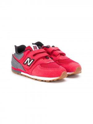 Кроссовки с логотипом New Balance Kids. Цвет: красный