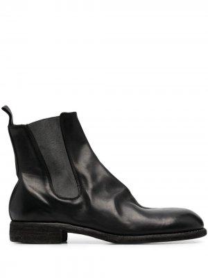 Ботинки челси с эффектом потертости Guidi. Цвет: черный