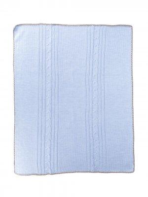 Одеяло фактурной вязки Siola. Цвет: синий