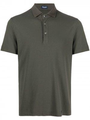 Рубашка поло с короткими рукавами Drumohr. Цвет: зеленый
