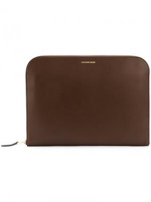 Сумка для ноутбука Alexander McQueen. Цвет: коричневый