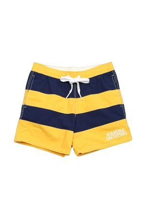 Шорты плавательные MARINA YACHTING. Цвет: желтый
