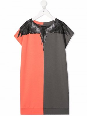 Платье-футболка с принтом Wings Marcelo Burlon County Of Milan Kids. Цвет: оранжевый