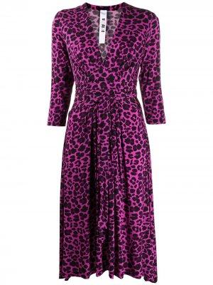 Платье миди с леопардовым принтом Ultràchic. Цвет: розовый