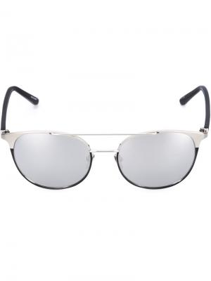 Зеркальные солнцезащитные очки Linda Farrow. Цвет: золотистый