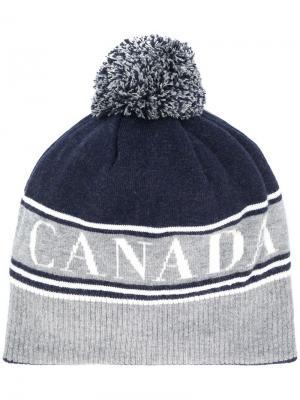 Canada beanie Goose. Цвет: синий