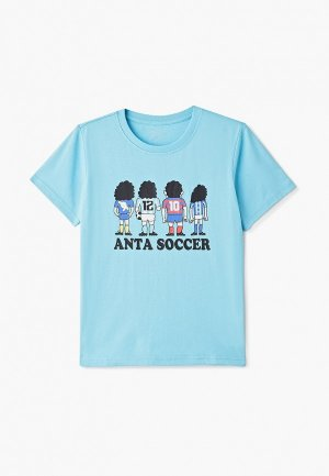 Футболка Anta. Цвет: голубой