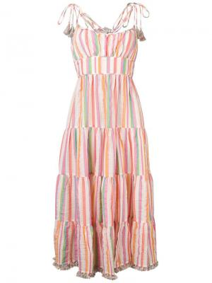 Striped flared dress Zimmermann. Цвет: розовый