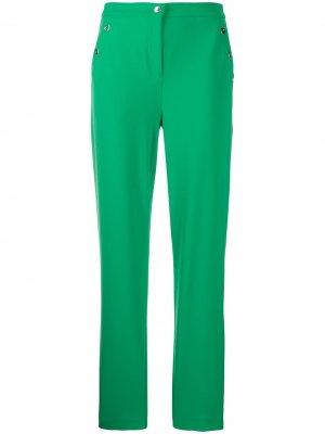 Прямые брюки с завышенной талией Boutique Moschino. Цвет: зеленый