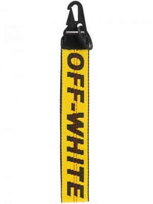 Брелок для ключей с логотипом Off-White. Цвет: желтый