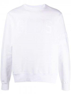 Джемпер с вышитым логотипом Gcds. Цвет: белый