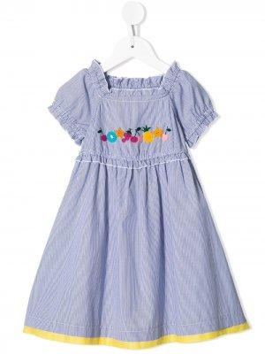 Расклешенное платье с нашивкой Familiar. Цвет: bl