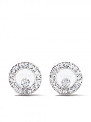 Серьги Happy Diamonds Icons из белого золота с бриллиантами Chopard. Цвет: белый