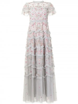 Вечернее платье Elsie Needle & Thread. Цвет: серый