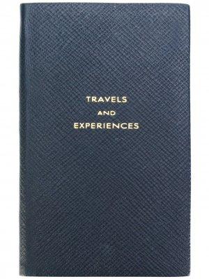 Записная книжка Travels and Experiences Smythson. Цвет: синий