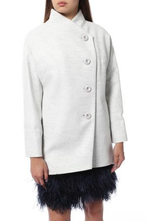 Пальто КОРУ-СТИЛЬ. Цвет: серый