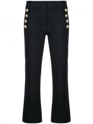 Укороченные брюки клеш с пуговицами в морском стиле Derek Lam 10 Crosby. Цвет: синий