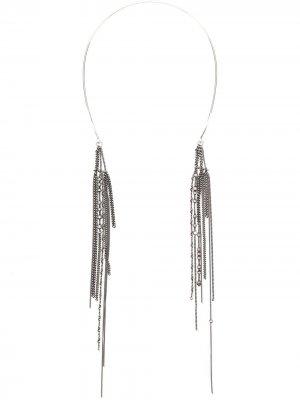 Серебряная диадема с цепочками Ann Demeulemeester. Цвет: серебристый