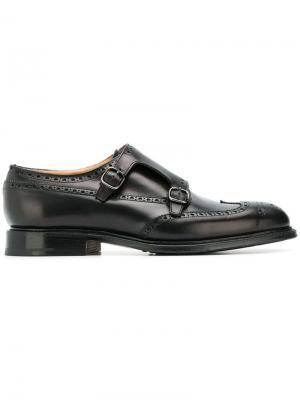 Туфли монки Church's. Цвет: черный