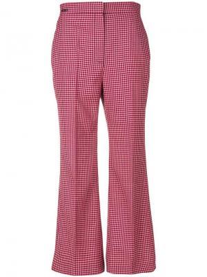 Укороченные брюки в шотландскую клетку Fendi. Цвет: красный