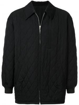 Утепленная стеганая куртка Comme Des Garçons Vintage. Цвет: черный