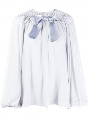 Блузка с бантом Giambattista Valli. Цвет: серый