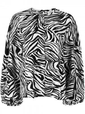 Блузка Dianne с зебровым принтом Stine Goya. Цвет: черный
