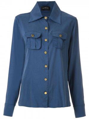 Рубашка Tulipe с карманами Olympiah. Цвет: синий