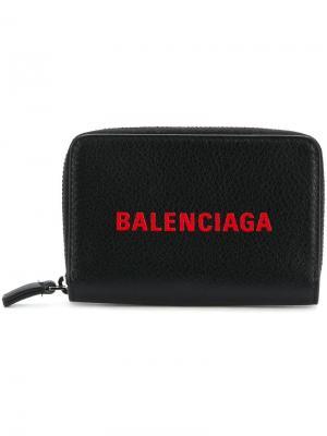 Визитница на молнии Balenciaga. Цвет: черный