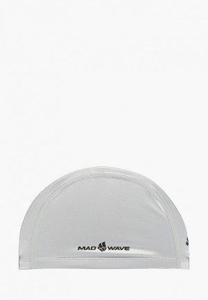 Шапочка для плавания MadWave. Цвет: серебряный