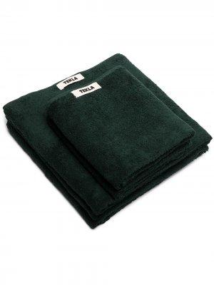 Набор из двух полотенец TEKLA. Цвет: зеленый