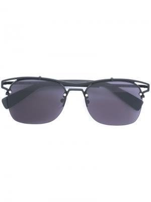 Солнцезащитные очки в квадратной оправе Furla. Цвет: чёрный