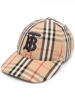 Бейсболка в клетку Vintage Check Burberry. Цвет: нейтральные цвета
