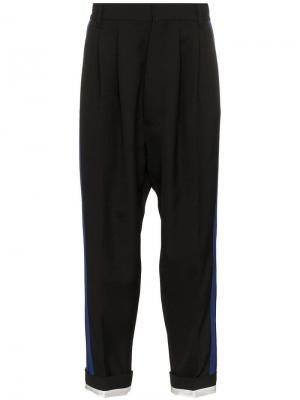 Зауженные брюки с лампасами Haider Ackermann. Цвет: черный