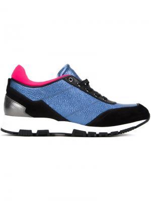 Кроссовки с панельным дизайном Lanvin. Цвет: синий