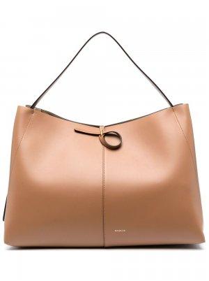 Большая сумка-тоут Ava Wandler. Цвет: коричневый