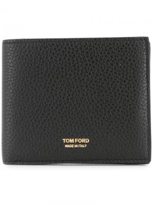 Бумажник с логотипом Tom Ford. Цвет: черный
