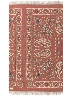 Полотенце с принтом BasShu. Цвет: красный