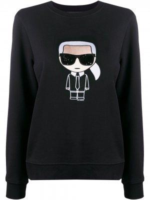 Толстовка Ikonik Karl Lagerfeld. Цвет: черный