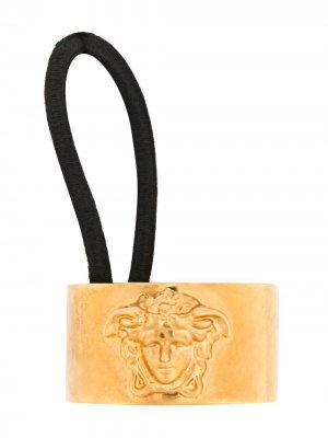 Резинка с декором Medusa Versace. Цвет: золотистый