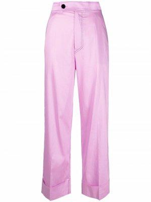 Укороченные брюки прямого кроя Aeron. Цвет: фиолетовый