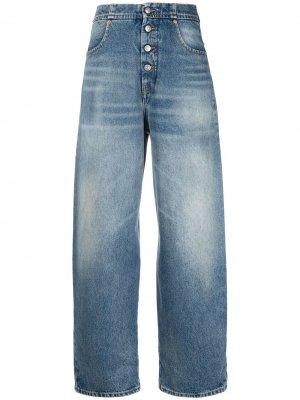 High rise tapered jeans MM6 Maison Margiela. Цвет: синий