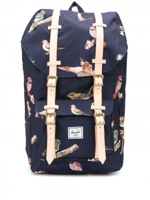 Рюкзак с пряжками и принтом Herschel Supply Co.. Цвет: синий