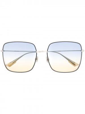 Массивные солнцезащитные очки So Stella Dior Eyewear. Цвет: серебристый