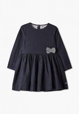Платье Petit Bateau. Цвет: синий